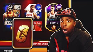 OPENING PACKS FOR NEW 104 OVR GOLDEN TICKETS IN NBA LIVE MOBILE SEASON 4!!!