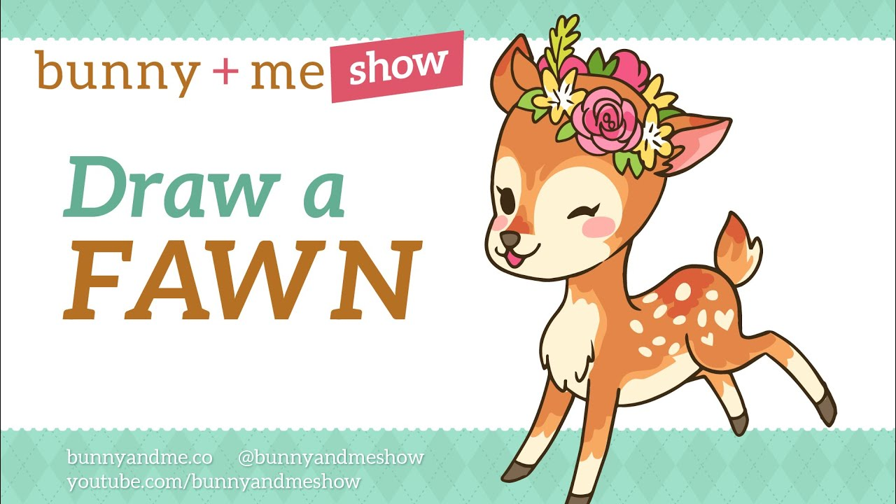 How To Draw A Fawn Cute Deer Drawing Tutorial Youtube