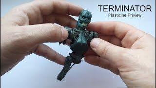 Реалистичный ТЕРМИНАТОР из Пластилина !!! Смотрим Обзор. TERMINATOR T800 Plasticine Tutorial !