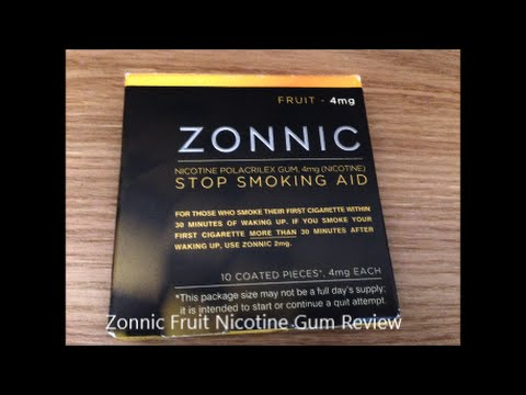 Zonnic Fruit Nicotine Gum Review