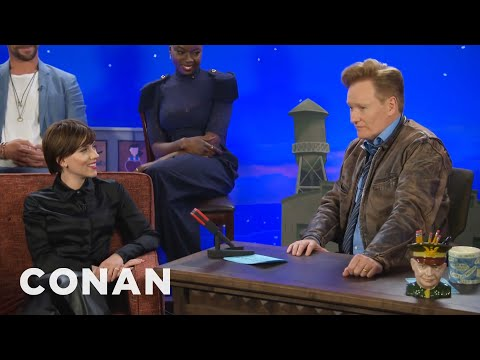 Scarlett Johansson Apologizes To Conan For Ditching Black Widow's Red Hair   CONAN on TBS