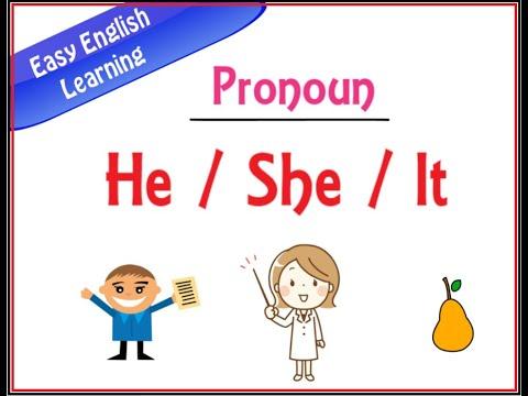 HE SHE IT  Pronoun in English    Basic English Concept for Kindergarten Kids     TITU Learning