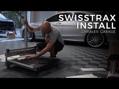 Installing Another Swisstrax Floor in Slate Grey   Arctic White