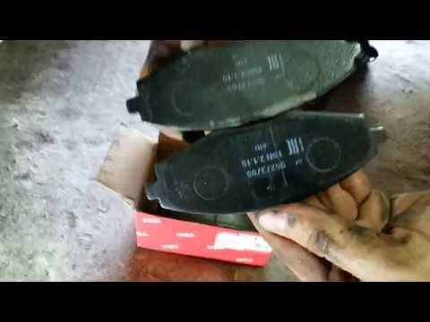Быстрый способ замены передних колодок на Део Ланосе  1.5 ч-3