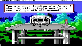 Space Quest II: Vohaul's Revenge (PC/DOS) 1987, Longplay, Sierra On-line