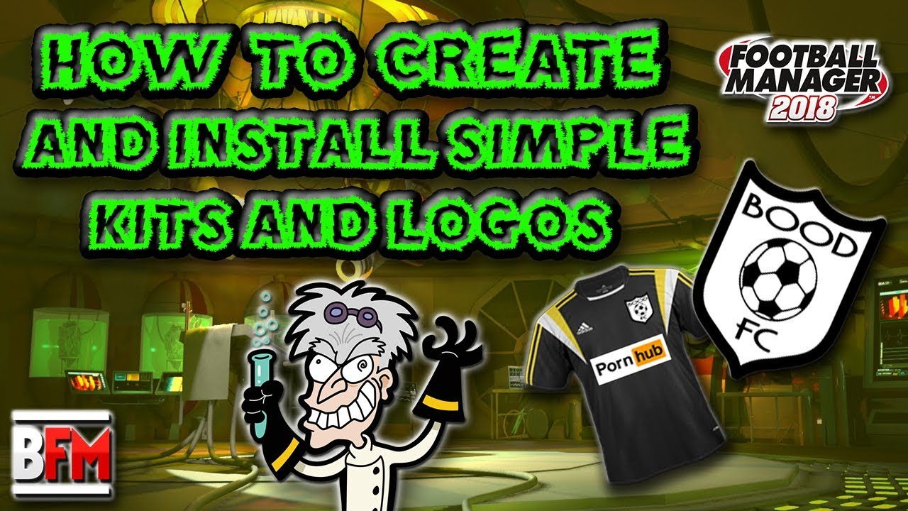 FM18 - How To Create & Install Simple Kit's & Logo's - Football Manager 2018