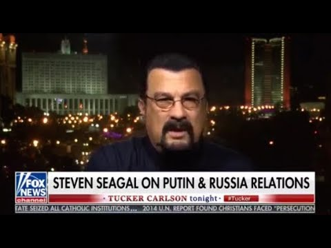 Tucker interviews Russian citizen, Steven Seagal about Russia