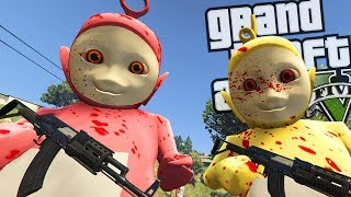 The EVIL Teletubbies MOD (GTA 5 PC Mods Gameplay)
