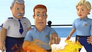 Пожарный Сэм на русском 🌟🌊 Потерянный на море, спасение воды пожарного 🚒 Пожарный Сэ