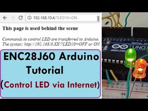 How To Control LED Using Internet ENC28J60 & Arduino Webserver