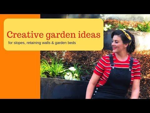 Ideas for gardening on a slope or hill // StraightCurve Garden Edging // The Gardenettes