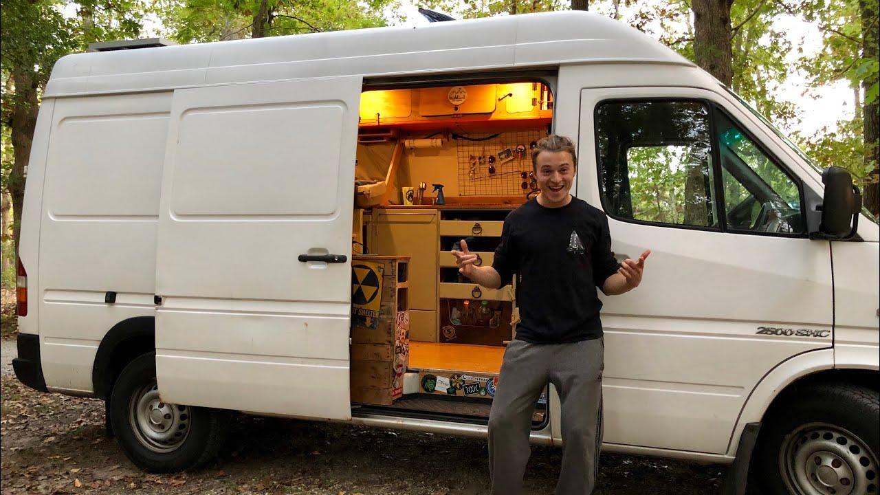 Sprinter Rv Conversion >> Vanlife Tour Diy Sprinter Campervan Rv Conversion Using Reclaimed Materials