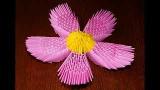 Модульное оригами. Цветок лотос. Мастер-класс.