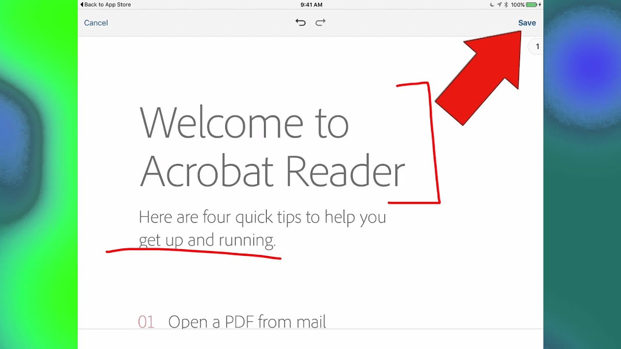 Download And Annotate With Adobe Acrobat Reader On An Ipad