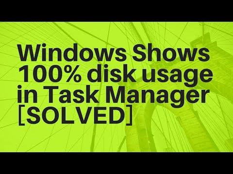 Task Manager shows 100% disk utilization on Windows!  Best Solution!