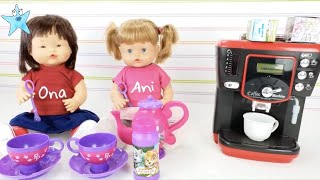 Ani y Ona RUTINA de TARDE Superdivertida😂😂😂 Las muñecas más tiernas de Youtube