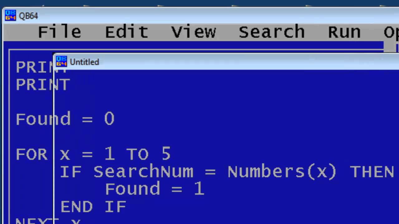Qbasic programming examples and exercises class 6