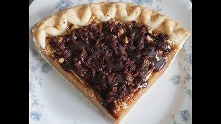ASMR Eating: Chocolate Crumble Pecan Pumpkin Pie