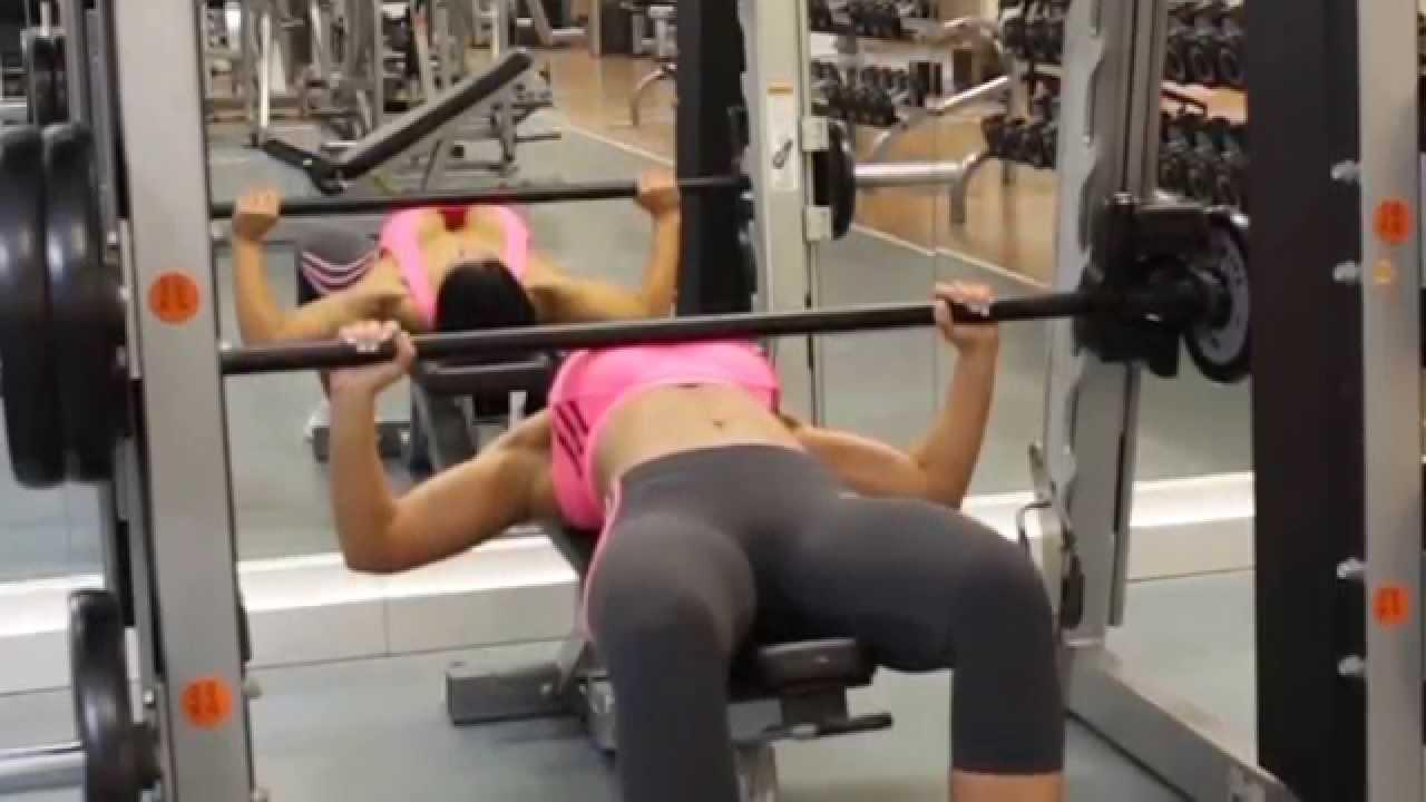 Smith Machine Bench Press Chest Exercise