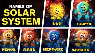 The Solar System - 8 Planets   The Solar System Song   Kids Educational Video   Foon Tunz