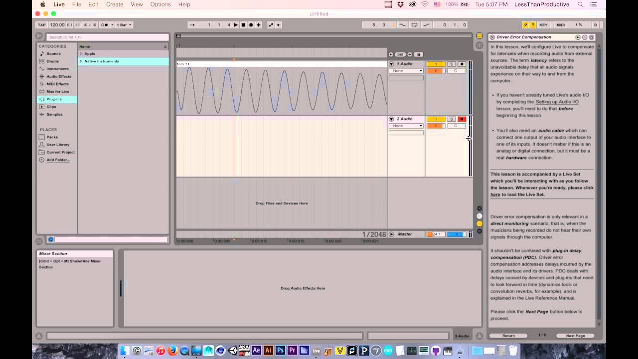 ableton latency