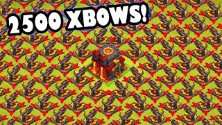 2500 xbows clash of clans new update cauldron is ours getting x bow achievement banned
