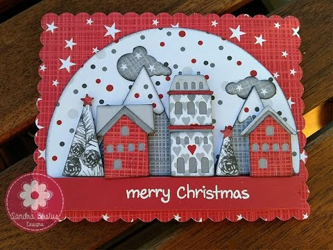 tim holtz christmas snowglobe card