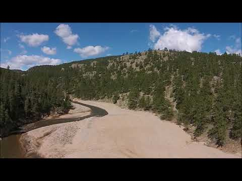 North St Vrain At Ralph Price Inlet Aerial Tour Of Sediment