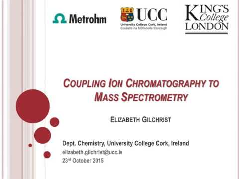 Coupling Ion chromatography to mass spectrometry