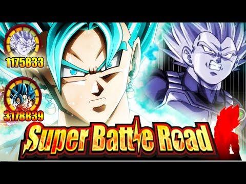 LR VEGITO BLUE & SSJ2 VEGETA IN SUPER BATTLE ROAD!! HOW WELL DO THEY TANK? DBZ: Dokkan Battle!
