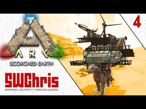 AWESOME PARACERATHERIUM BASE IN ARK SURVIVAL EVOLVED :: Scorched Earth DLC Gameplay Molten Iron S1E4