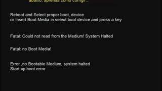 Tela preta, Erro Boot Media, todos Windows.