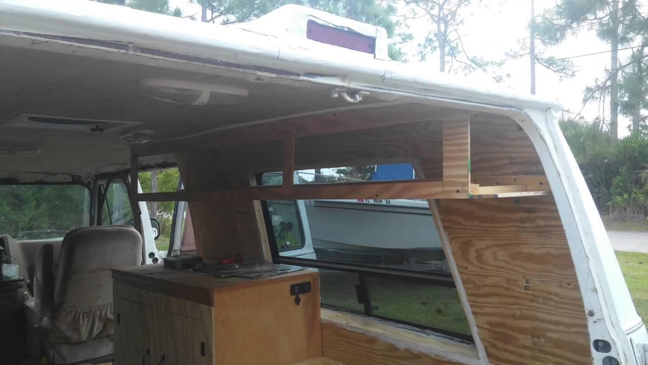 aluminum kitchen cabinets german campervan build 5 - vanity & custom overhead ...