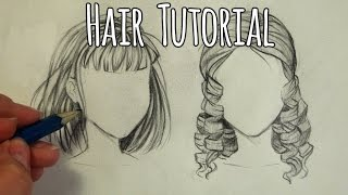 HOW TO DRAW HAIR - Curly and Straight Tutorial