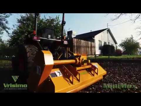 Vrisimo MiniMax Compact Tractor Flail Mower - Only 17 HP Required to Operate