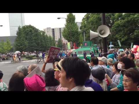 Tokyo Anti War Protest August 30, 2015