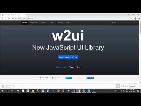 How to setup w2ui in asp.net project