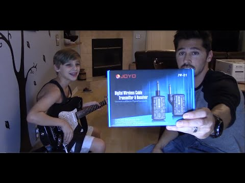 how to connect electric guitar to amp wireless joyo jw 01 wireless guitar adapter youtube. Black Bedroom Furniture Sets. Home Design Ideas