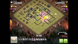 Witch Slap TH9 vs TH9 War Attack