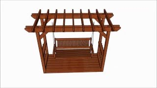 http://www.howtospecialist.com/outdoor/pergola-with-swing-plans/ SUBSCRIBE for a new DIY video almost every single day!