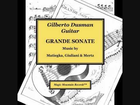 Giuliani Sonata in C Op 15, Allegro Spirito: Gilberto Dusman, Guitar