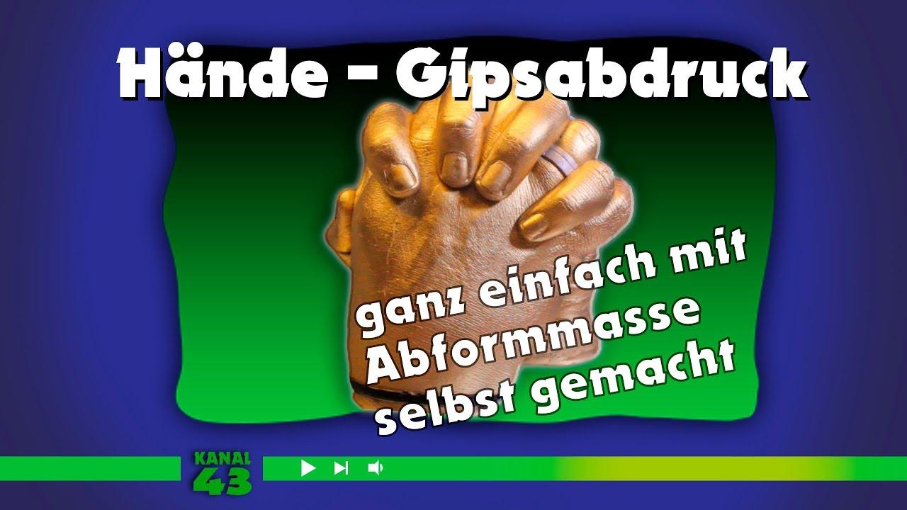 3d hände - gipsabdruck selber machen - youtube