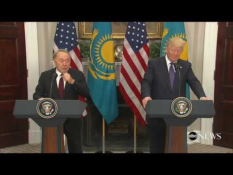 Pres. Donald Trump, Kazakhstan President Nursultan Nazarbayev hold joint news conference |