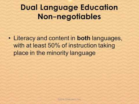 What is Dual Language Education?