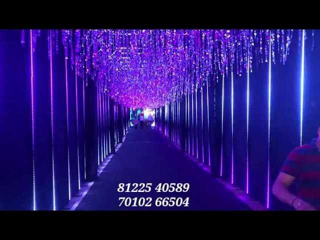 3D false ceiling Tunnel LED Lighting Design Entrance Pathway Decoration All Events India 8122540589