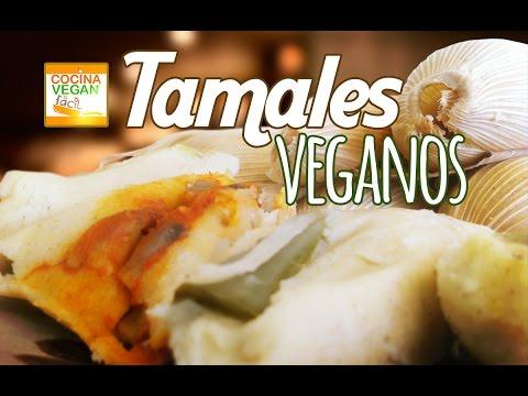 Tamales Veganos (Verdes, rojos y rajas con queso) - Cocina Vegan Fácil