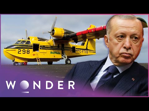 Canadian Airline Delivers Turkey's First Water Bombers   Ice Pilots NWT   Wonder