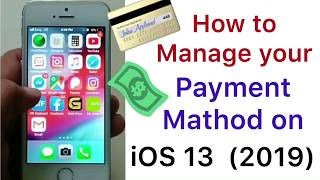 Gambar cover how to manage payment method on iPhone ios 13.