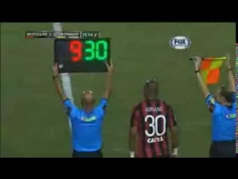 Estreia De Adriano Imperador Atlético PR 1 x 0 The Strongest Libertadores 25/ 02 /2014