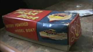 1950s Japanese Ito Wooden Toy Boat